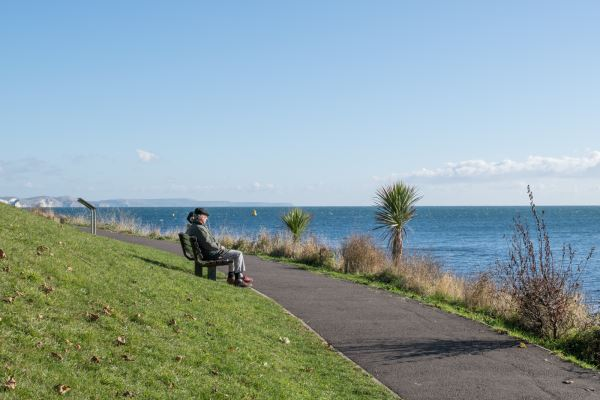 Looking out at Nothe Gardens
