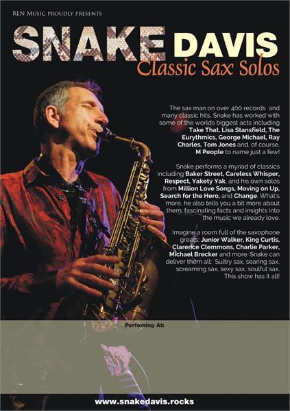 Snake Davis - Classic Sax Solos in Wimborne, Dorset