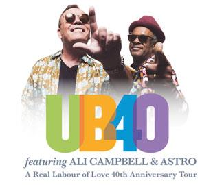 UB40 Featuring Ali Campbell and Astro in Bournemouth, Dorset