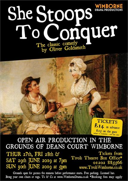 Open Air Theatre: She Stoops to Conquer