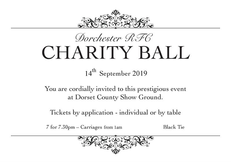 Dorchester RFC Charity Ball