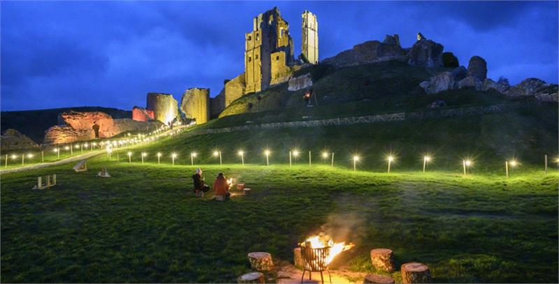 Winter Lights at Corfe Castle