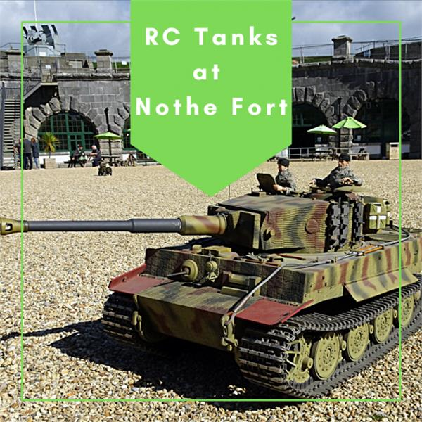 Remote Control Tanks at Nothe Fort